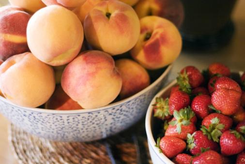 compote peche fraises