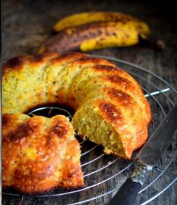 cake banane - recette maroc