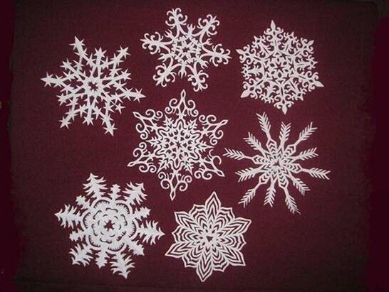 flocons de neige - activité créative - Maman Maroc